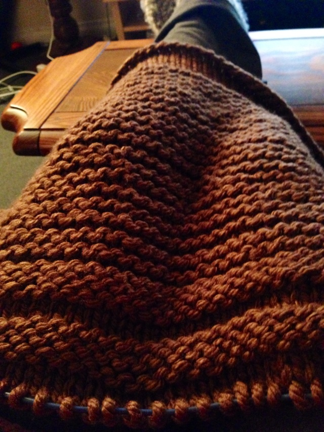 I love the different textures in this blanket