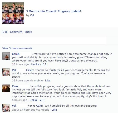 Coach Caleb and Coach Cam showed their support on Facebook.
