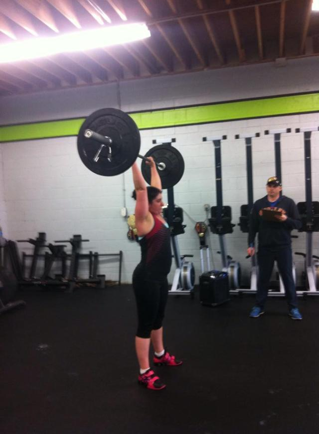 Early in the WOD. Can't believe how strong I look!