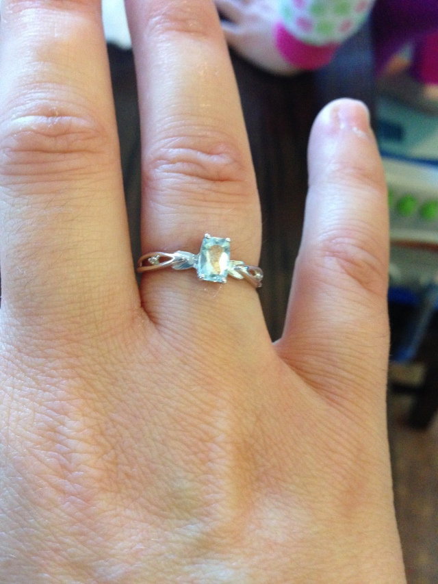 A delicate ring with my birth stone (aquamarine)