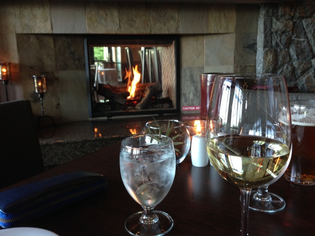 Fireplace and wine!
