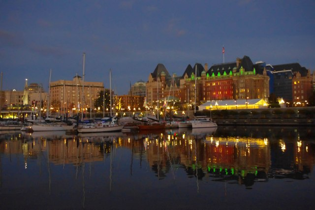 The Empress Hotel from the Inner Harbour