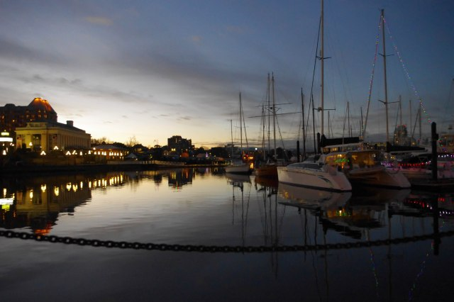 Christmas day sunset on the Inner Harbour