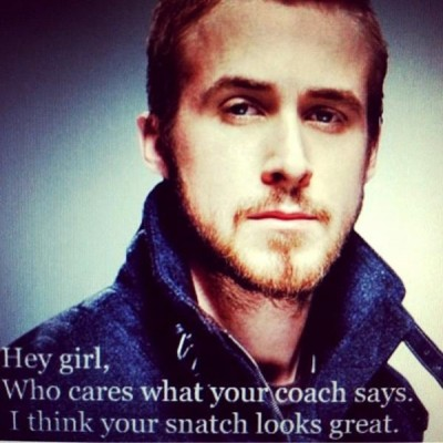 Actually, Ryan, I do care about what my coach has to say about my snatch since I don't want to get injured. However, thanks for the compliment! ;)