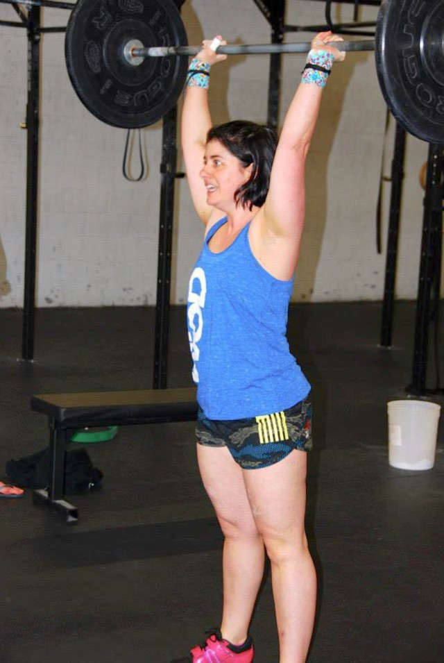 """Deer stuck in headlights"" look on my face as I just realized my original game plan will not work and I have so many reps of thrusters to do. I was on the round of 27..."