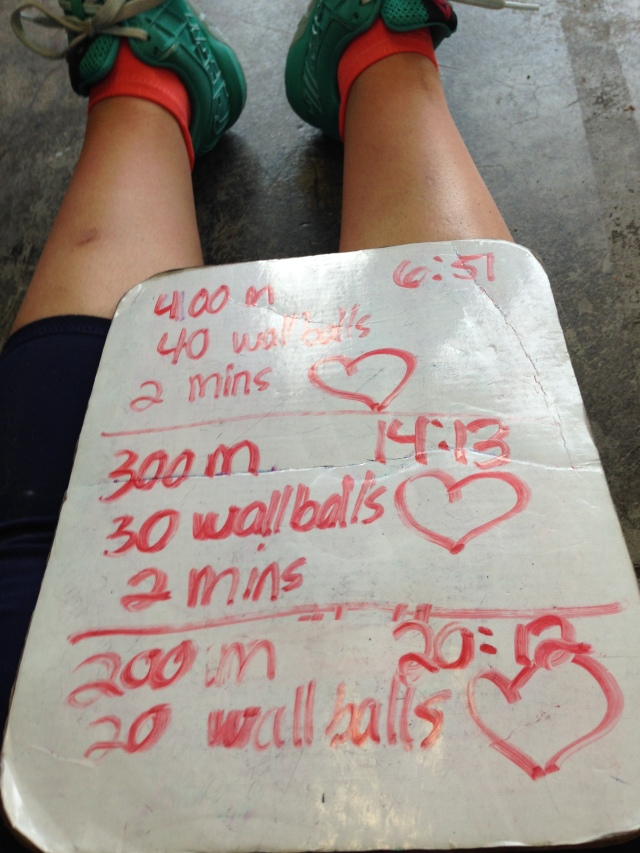 Playing mind games with myself and trying to convince my brain that I love wallballs