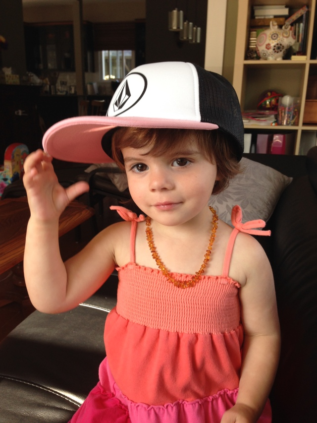 Cutie in a trucker hat!