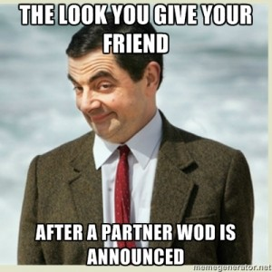 Uhm yeah! That was totally Kathleen and I when the team WOD was announced!