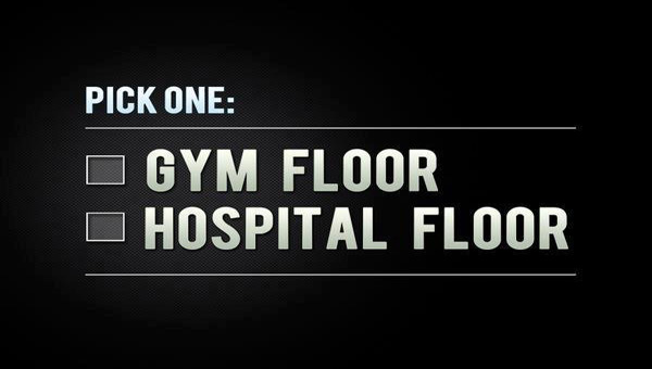 I will chose the gym any day (except when I'm actually working the floor at the hospital!) ;)