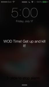 My alarm woke me up!