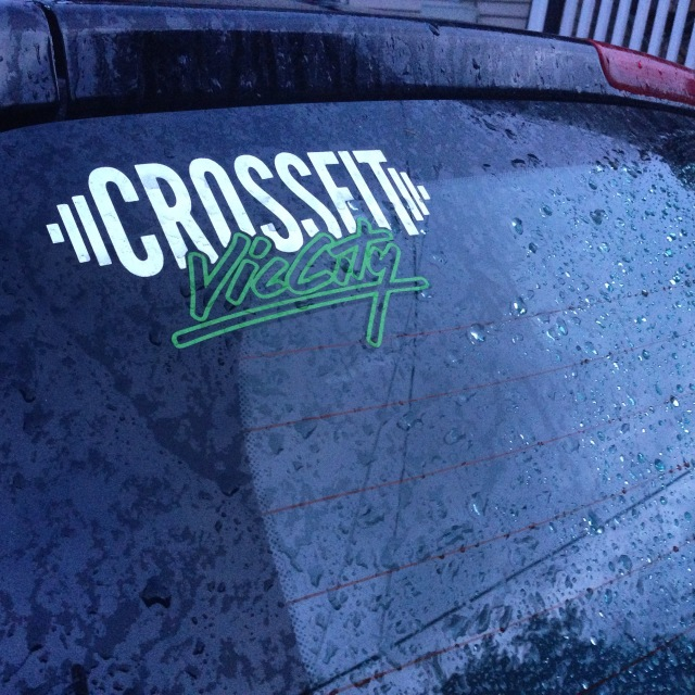 Rain on my car and Crossfit on my mind!
