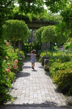Rina in her secret garden (Italian garden)