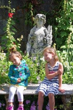 Posing in the Italian garden