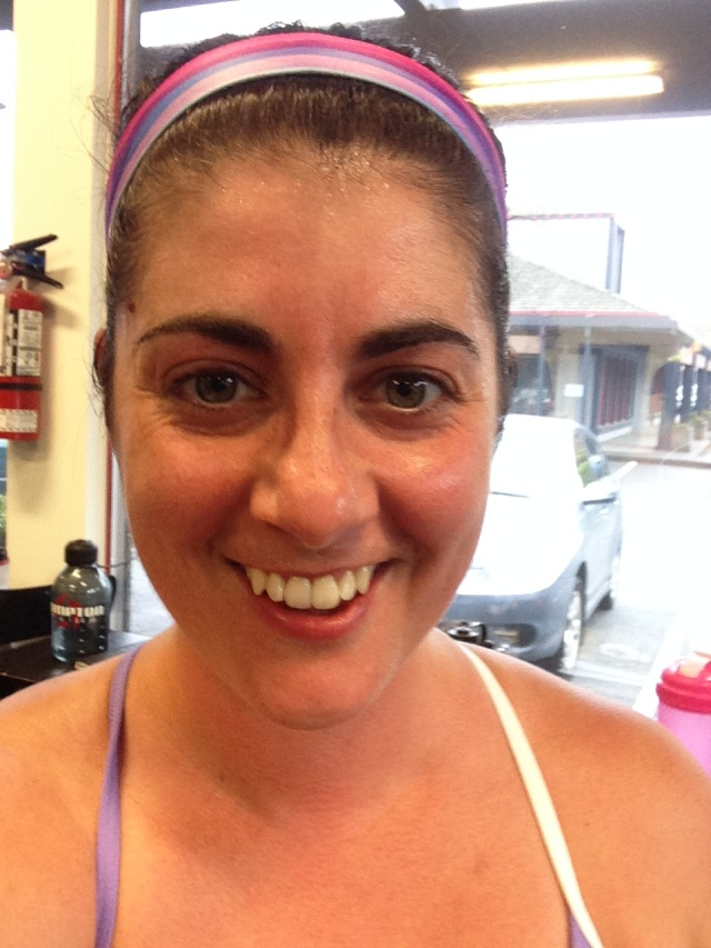 PR face! Happy and sweaty!